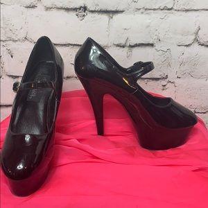 👠Pleaser Mary Jane Platform Heels Size 10